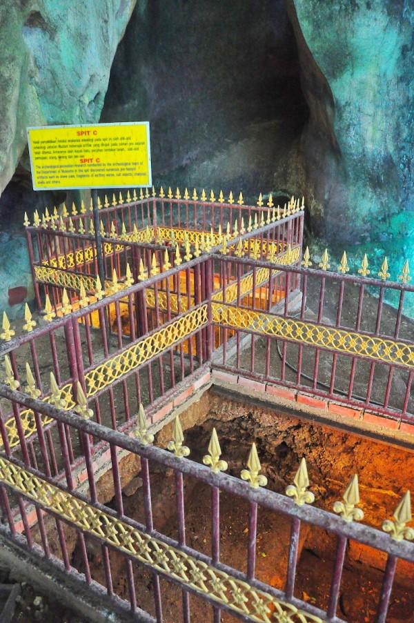 Excavation site inside Bewah Cave