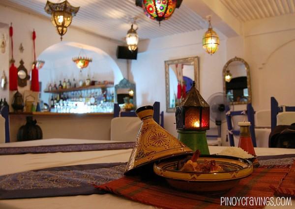 Inside Kasbah Moroccan Restaurant
