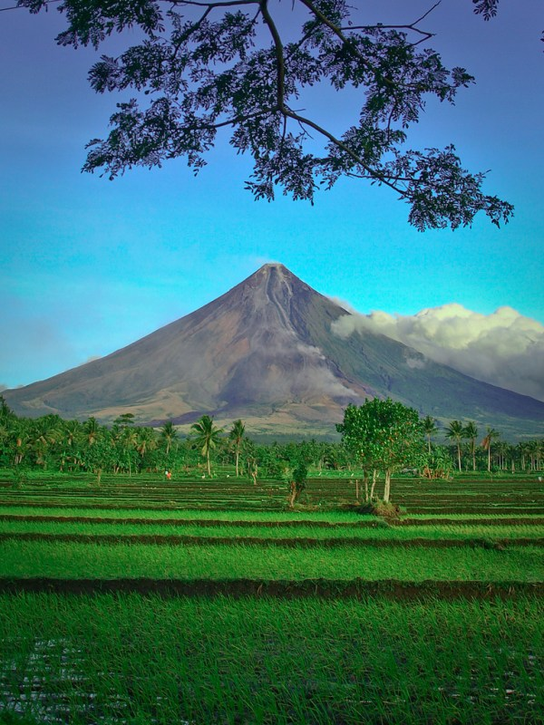 Mayon Volcano photo by IRRI