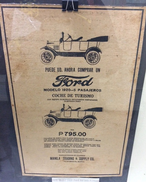 Old Poster of Ford in Spanish