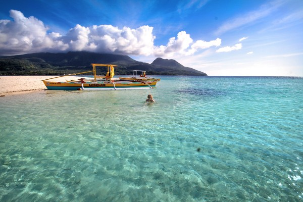 Sab enjoying the cystal clear waters of Camiguin