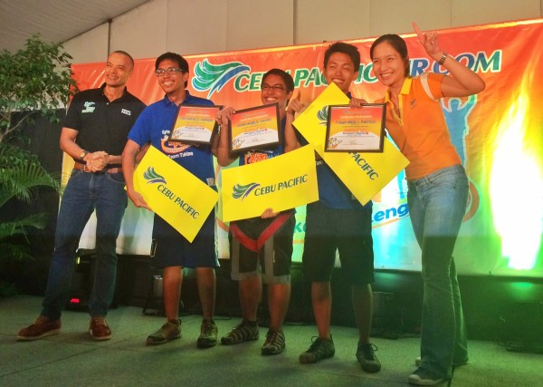 Team Tuklas from UP Diliman wins the Grand Prize at Cebu Pacific Juan for Fun Backpacker Challenge