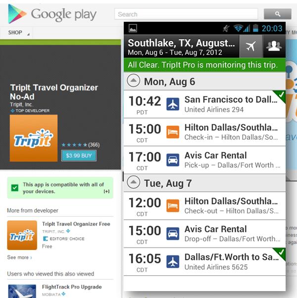 TripIt Travel Organizer App