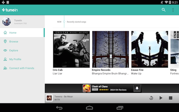 TuneIn Android App