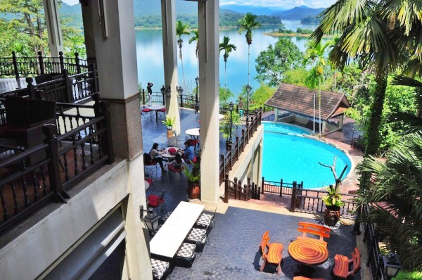 View from Lake Kenyir Resort Restaurant