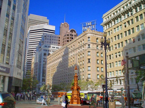 The Palace Hotel on Market Street in San Francisco