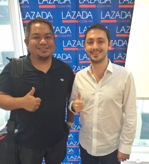 Melo Villareal with Inanc Balci Lazada co-founder and CEO