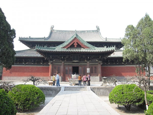 The front of the Manichaean Hall of Longxing Temple, in Zhengding, China