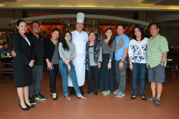 Chef Edwin Santos with Media and Taal Vista Team