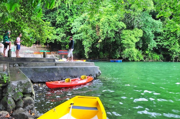 Kayaking in Lake Bulusan