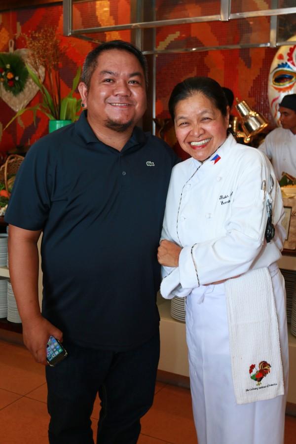 Melo Villareal with Chef Babes Austria