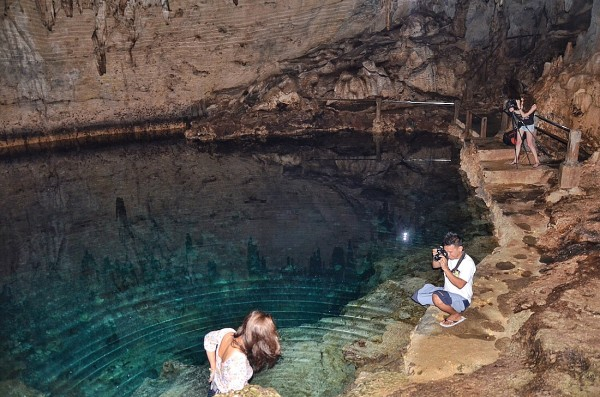 Natural Lagoon inside the Cave