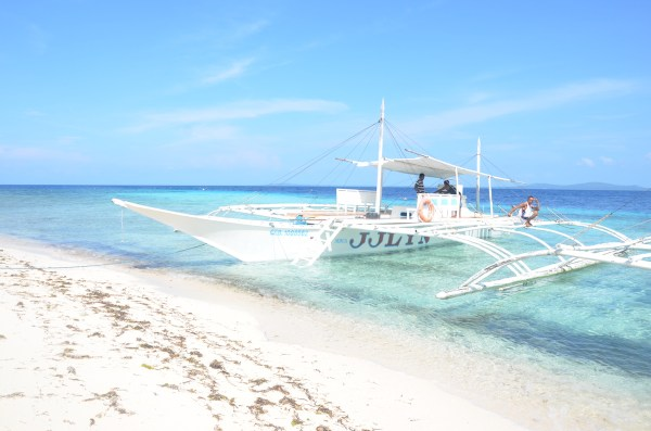 Our Boat in Pamilacan Island