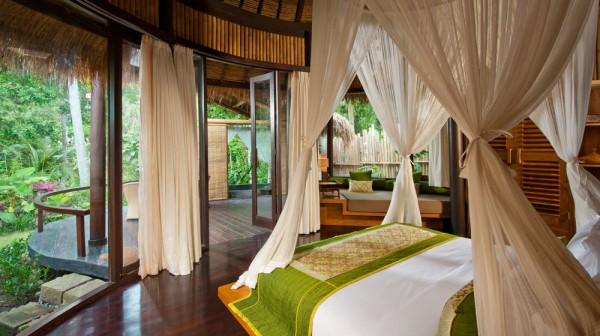 Rooms at Fivelements Puri Ahimsa Hotel