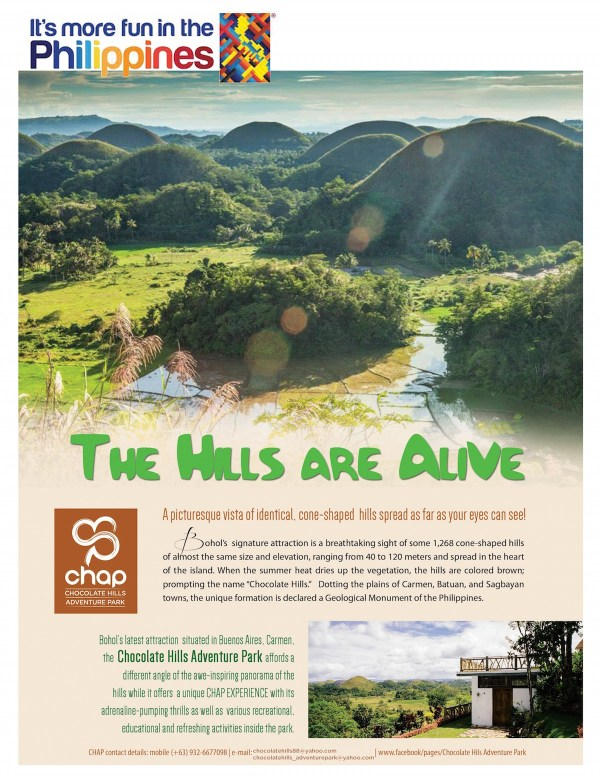 The Hills Are Alive at the Chocolate Hills Adventure Park
