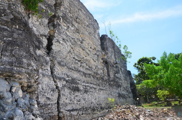 Walls of the 200 year old Spanish Port