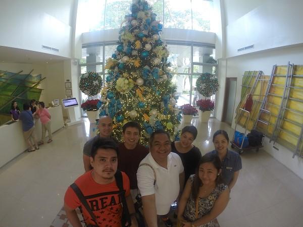 Media Team at the Pico Sands Hotel Lobby