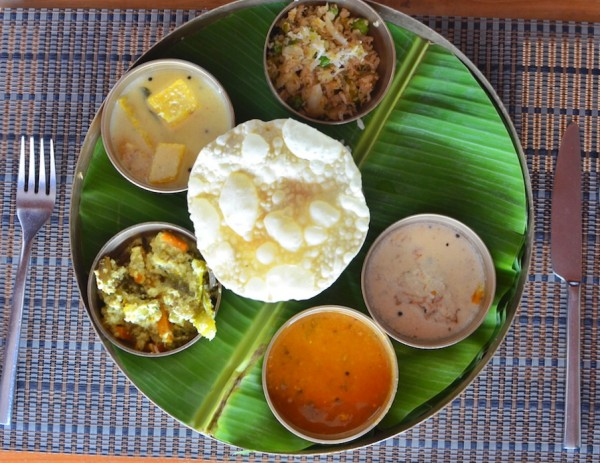 Traditional Kerala Lunch at Turtle on the Beach Hotel