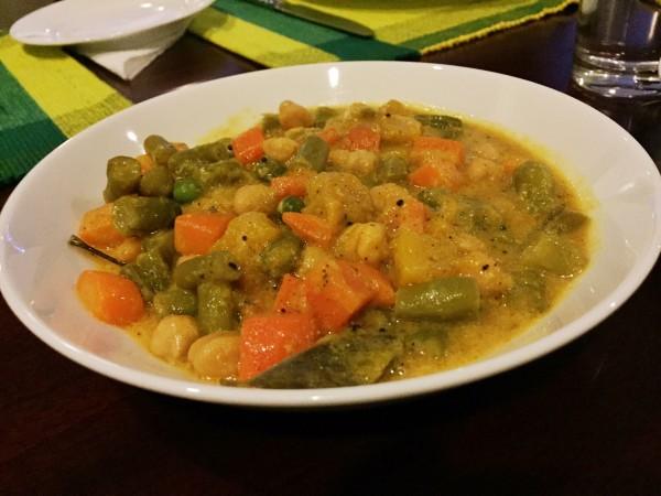 Vegetable Curry at Catamaran Beach Resort