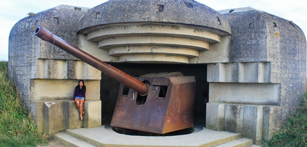 Checking out WWII spots in Normandy, France