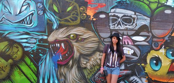In front of a Street Art