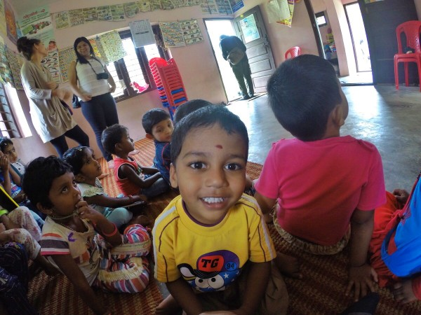 Kids at the Day Care Center near the Spice Plantation