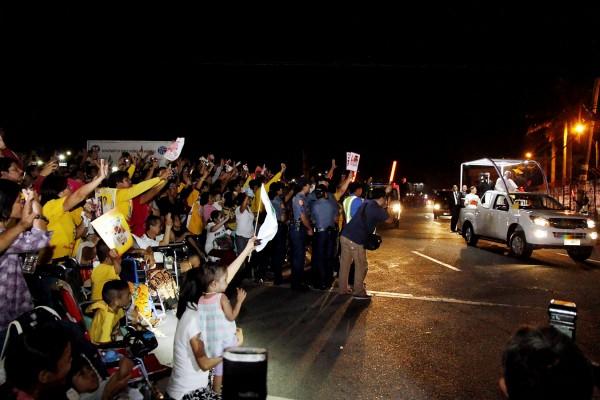 Pope Francis motorcade in Pasay City