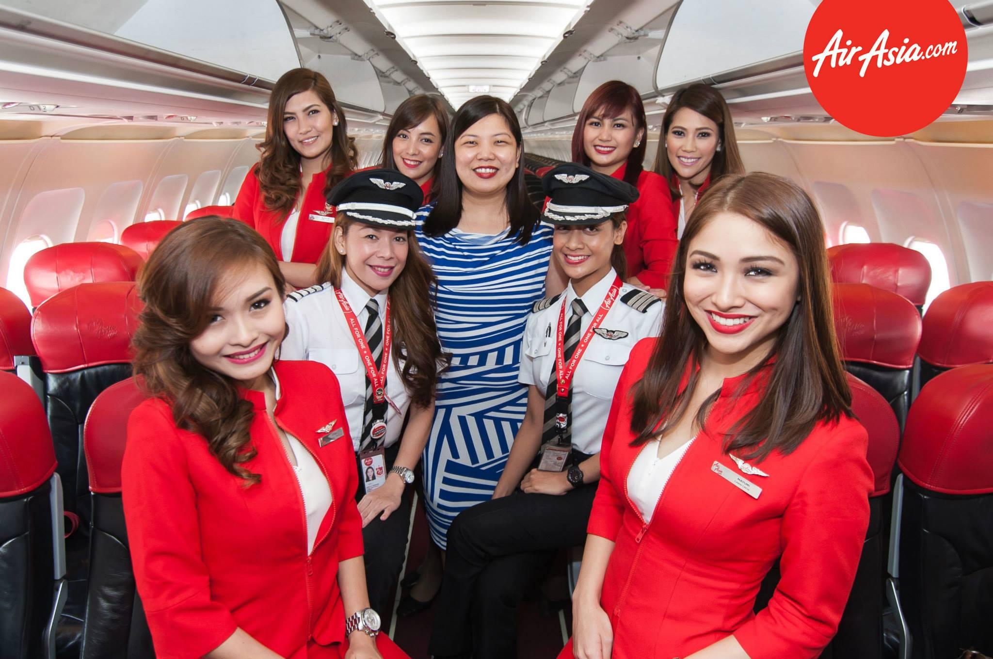 AirAsia marks return of Manila-Davao flight with an all-female flight crew