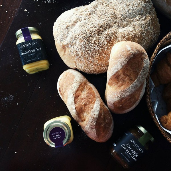 Bread, jams and curds. Photo by Kelsey Cheng via Antonio's FB