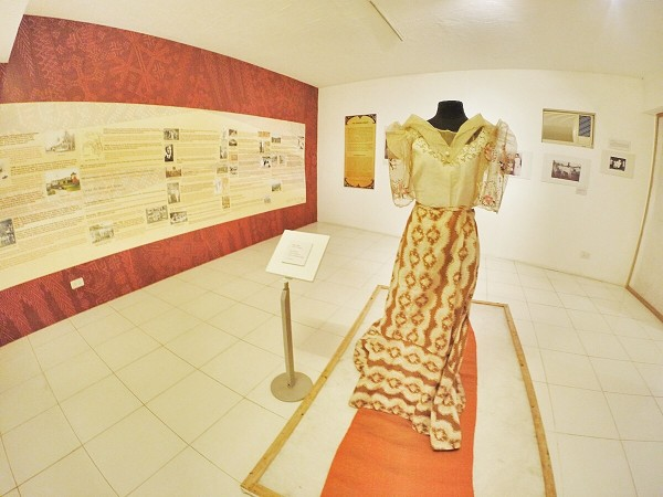 Filipiniana Dress inside Davao Museum