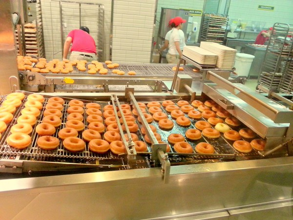 Inside Krispy Kreme Shop