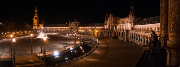 Night time Plaza de España