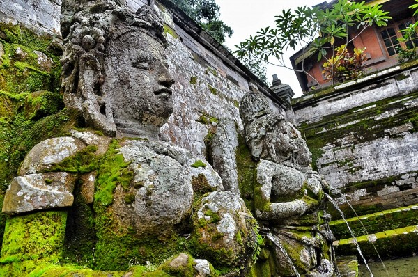 Stone Sculptures at the Bathing Temple