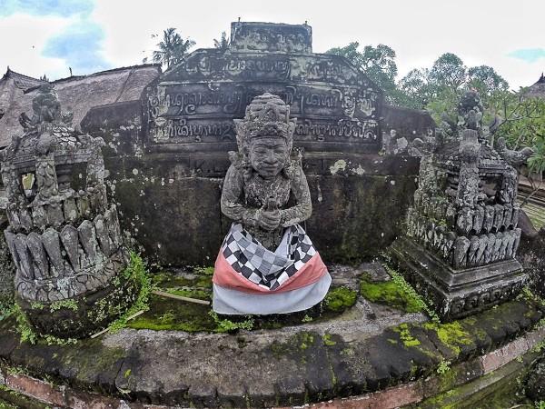 Stone Sculptures inside Batuan Hindu Temple