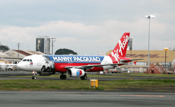 AirAsia Philippines Airbus A320 with the exclusive Manny Pacquiao livery