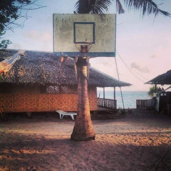 Improvised basketball court(coconut style)