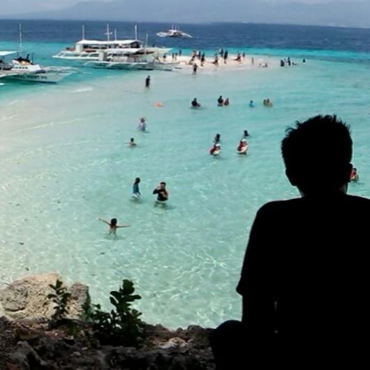 Overlooking Sumilon sandbar