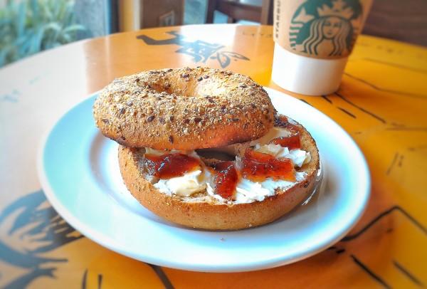 Starbucks Bagel - Photo taken using Zenfone 2 Camera