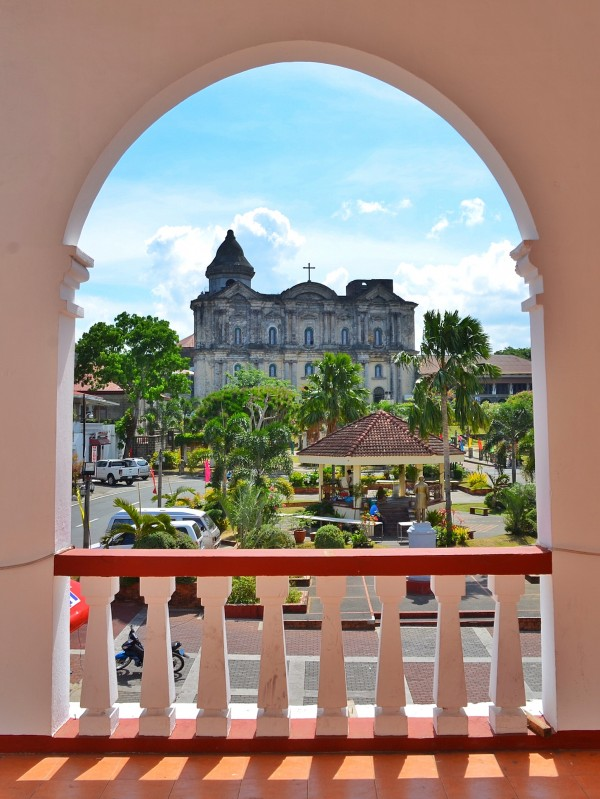 Basilica of Saint Martin of Tours from Taal Municipal Building