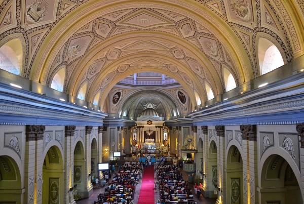 Inside Taal Basilica