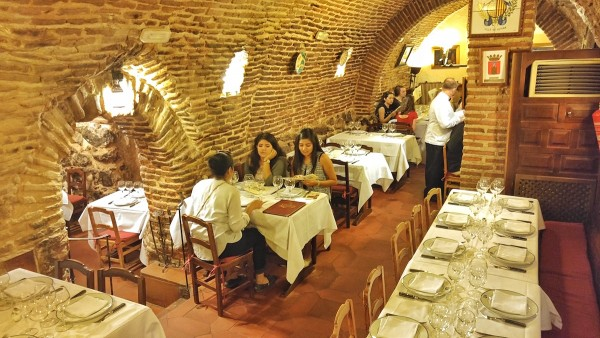 Underground Dining Area of Restaurante Botin