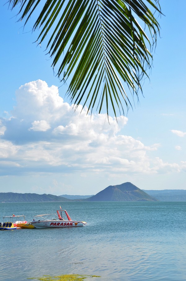 View of Taal Volcano from Club Balai Isabel