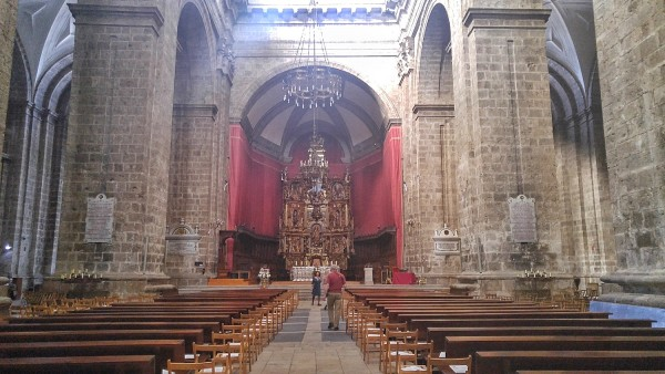Inside Valladolid Cathedral