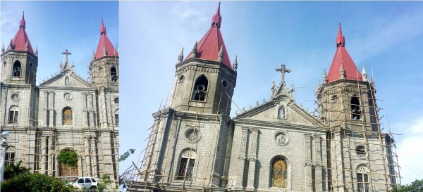 Molo Church undergoing maintenance for its fiesta on July 26