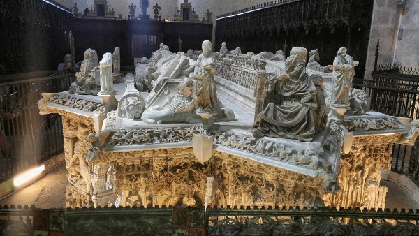 Royal tomb of King Juan II of Castile and Queen Isabel made by Gil de Siloe.
