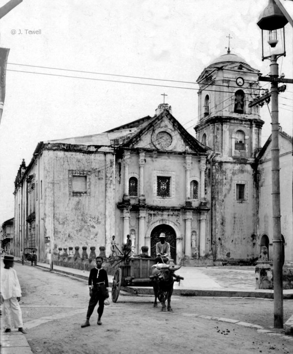 San Agustin Church Circa 1945 by John Tewell via Foter