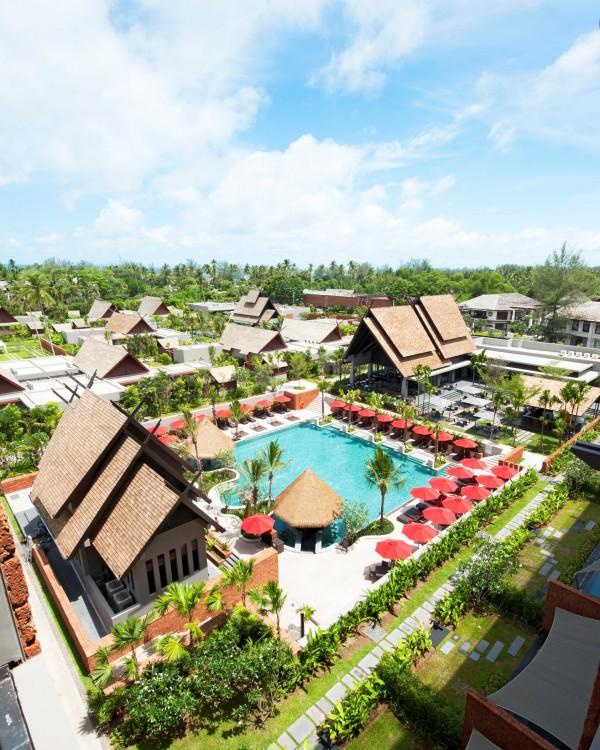 Aerial shot of Anantara Vacation Club Phuket Mai Khao