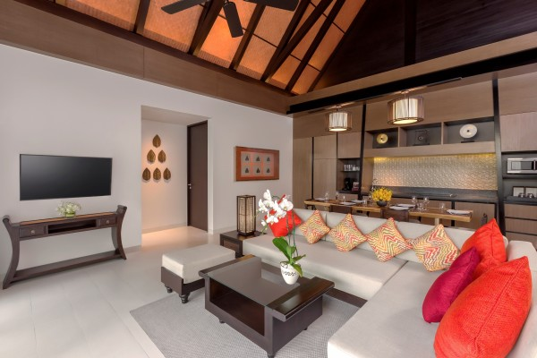 Living area of the two-bedroom pool villa