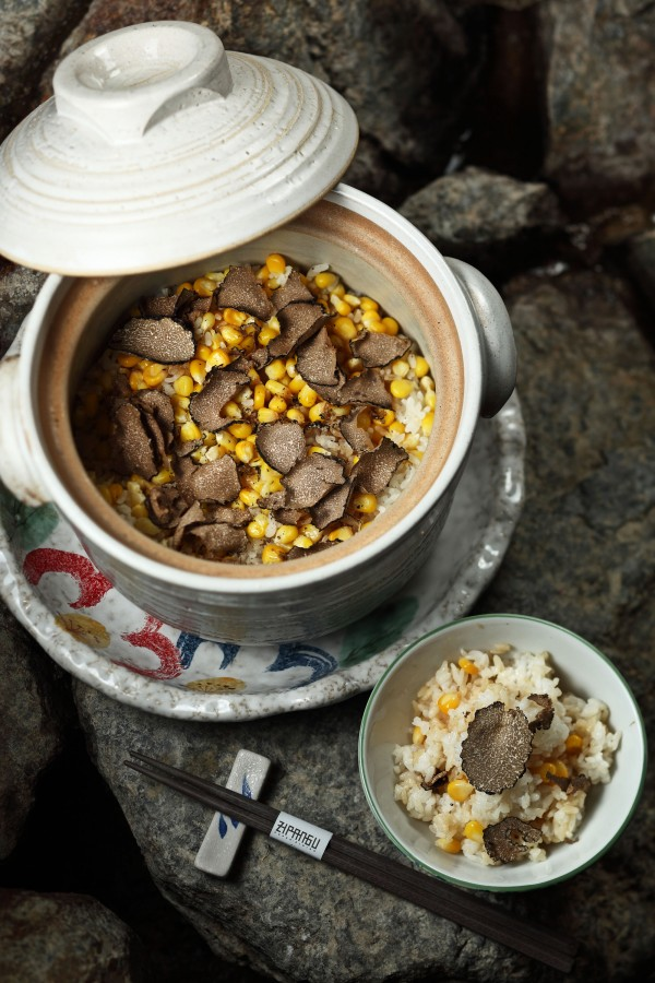 Rice with Corn and truffles