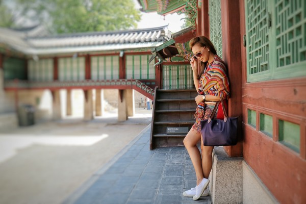 Sample Fashion Photography using Canon M3 - Yen Dreyfus in Changdeokgung Palace